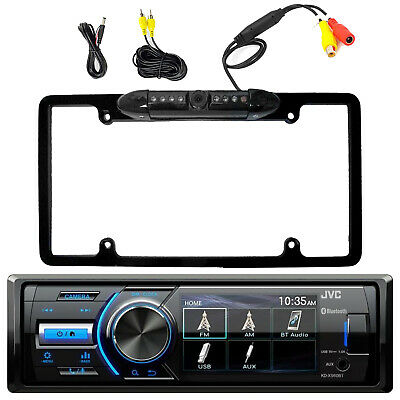 Marine Bluetooth Receiver w/ Rearview Cam Input, License Plate Back Up Camera