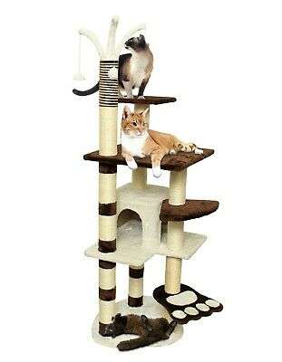 "Cat Tree Tower Post for Scratching Climbing Play & 20""- 96"" Lounge Condo House"