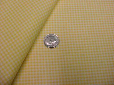 Cotton Fabric Quilt Shop Cotton Material Tiny Yellow check Doll Sew Craft Estate