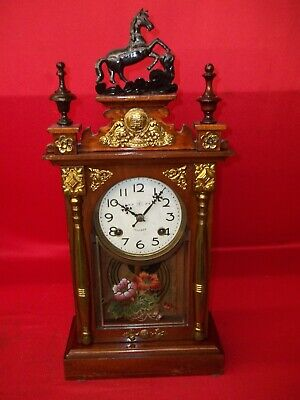 Very Nice Looking Old Original Chinese 8 Day Time & Strike  Clock