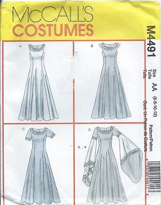 M5155 MCCALL'S SEWING Pattern Costume Renaissance Medieval