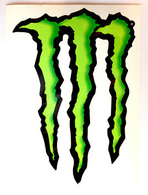 "New Monster Energy Logo Sticker Decal die cut 8"" By 6"""