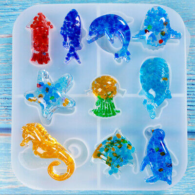 Sea Animal Shaped Silicone Epoxy Resin Molds DIY Jewelry Making Tools Craft
