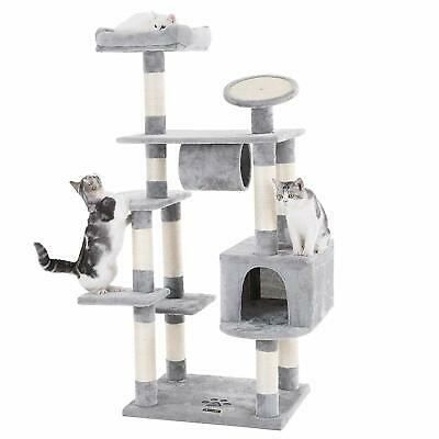 """62"""" Large Cat Tree Condo Multi-Level Cat Tower with Scratching Post Pad (CD4)"""