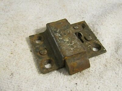 """Antique Victorian Age Lock Plunger Mechanism Spring Loaded w Key Hole 2"""" x 1.5"""""""