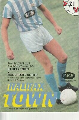 150/  League  Cup  Halifax Town   V Manchester United 26 Sept.1990
