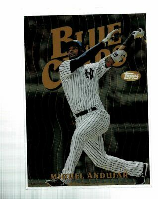 2019 Topps Finest Miguel Andujar Blue Chips Gold Refractor #31/50 (CD)