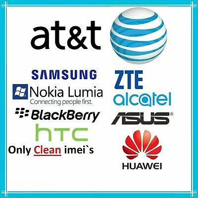 Att Samsung Lg Huawei Alcatel Iphone & Zte Unlock Code Service For At&t Carrier