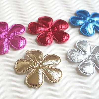 60 Padded Blue Felt Flower//Butterfly//Heart Fabric Applique//Embellishment H543