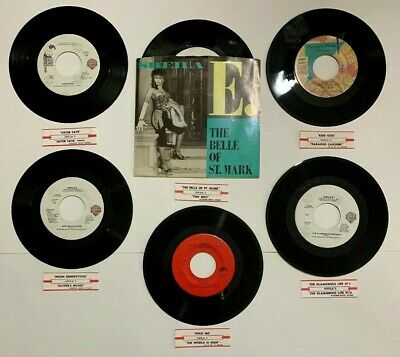 "Sheila E 6 Lot 45 RPM Vinyl 7"" Record Picture Sleeve Jukebox Strips Belle Mark"