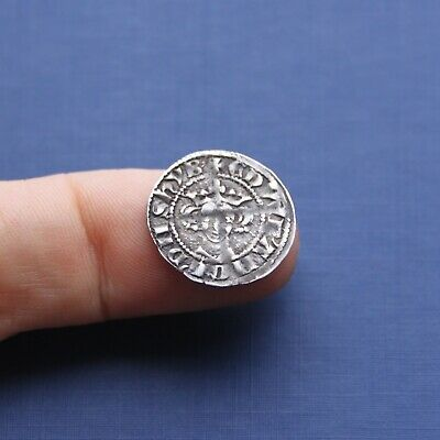 Hammered Silver Coin Edward 1st Penny Kingston Upon Hull Mint c 1279 AD