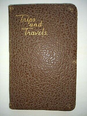 HANDWRITTEN TRAVEL DIARY-Rent Cottage & Car-Tour-Great Britain-Europe-Alps-1936
