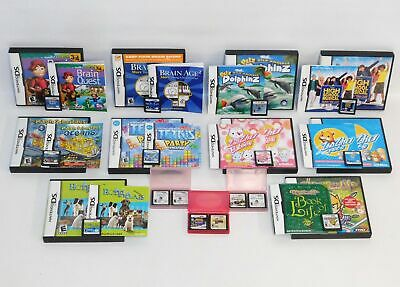 Lot 16 Nintendo DS Games Tetris Party Drawn to Life Dolphinz Magic Schoolbus++