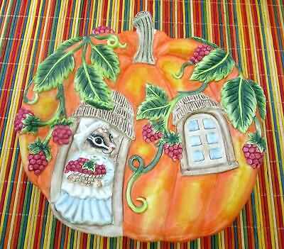 """Fitz and Floyd """"It's Harvest Time"""" Canape Plate 8-3/4"""""""