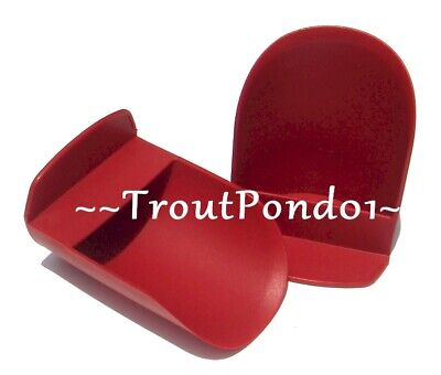 Tupperware Rocker Scoops Gadget Flour Sugar Ice Scoop Cranberry Red Set 2 New