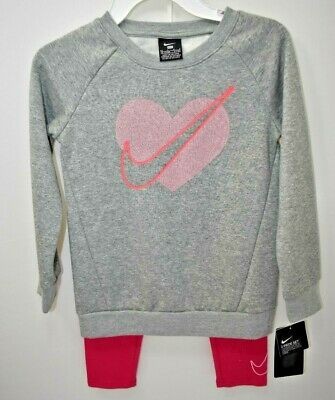 Nike Girls Sweat Shirts & Legging 2 Pcs Sets Outfit Sz 6X New With Tag