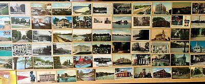 Collection of 145 Antique & Vintage Postcards +Folder ALL OHIO Various Towns LOT