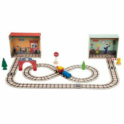 39 Pcs Puzzle Train Playset for Toddlers, Educational Pretend Play Gift for Kids