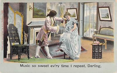 Music So Sweet Evr'ry Time I Repeat Darling Vintage Romance Postcard