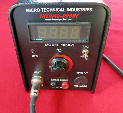 Micro Technical Industries Thermo Probe 105A-1, 25 to 200 deg C, 120V