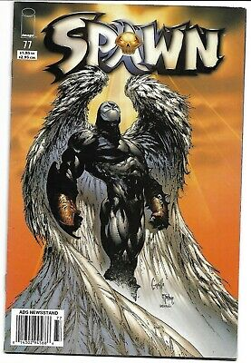 Spawn #77 Newsstand Variant Vf Classic Angel Cover Todd Mcfarlane Image Comics