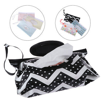 Clutch and Clean Wipe Carrying Case Eco-friendly Wet Wipes Bag Cosmetic Pouch TE