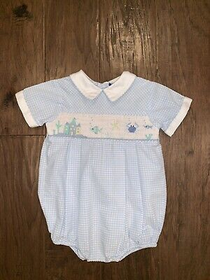 Carriage boutique Boy Smocked Bubble 9 Month