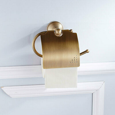 Vintage Style Wall Mounted Brass Toilet Paper Holder Roll Tissue Rack