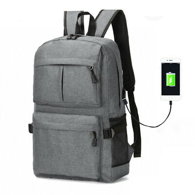 USB Smart Bag School Anti-Theft College Backpack Charging Laptop Student