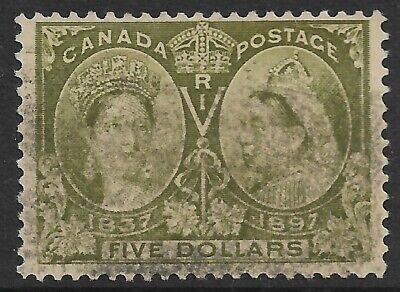 Canada - QV Jubilee $5 Olive Used SG 140 (CV £700)