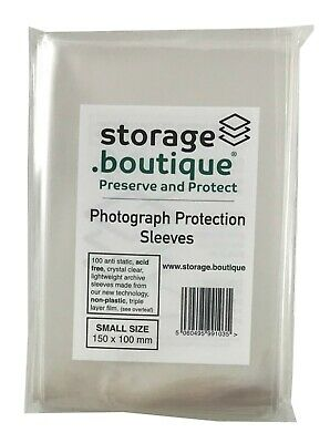 storage.boutique PHOTOGRAPH Archive Protection Sleeves, Crystal Clear, Acid Free