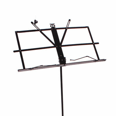 Glarry Handy Portable Adjustable Folding Music Stand with Bag Blac
