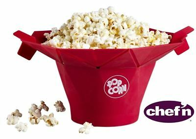 Chef'n PopTop Microwave Popcorn Popper Maker - No Mess - Healthy Snack