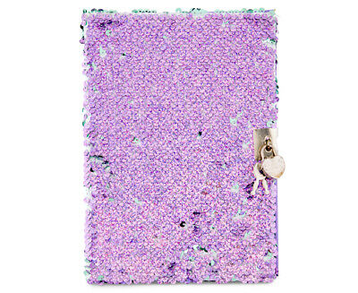 Fashion Angels A5 Magic Sequin Diary w/ Lock - Purple