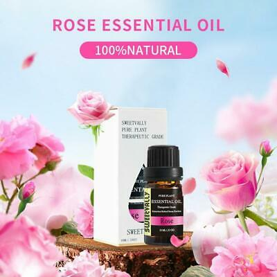 10ml Rose Essential Oil Natural Pure Flower Plant Aromatherapy Essential Oils