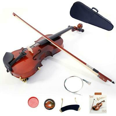 Hot Sale Student Maplewood 1/4 Acoustic Violin w/ Fiddle + Case + Bow + Rosin