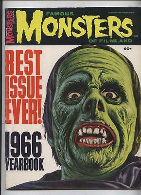 Famous Monsters of Filmland Magazine 1966 Yearbook Fearbook 100pg Giant