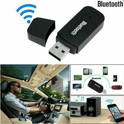 New 3.5mm AUX To USB Wireless Bluetooth Audio Stereo Car Music Receiver Adapter