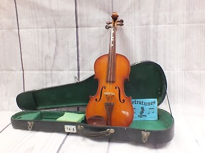 PARROT 71 4/4 Full Size Acoustic Violin Natural Finish & Case NEEDS WORK - L38