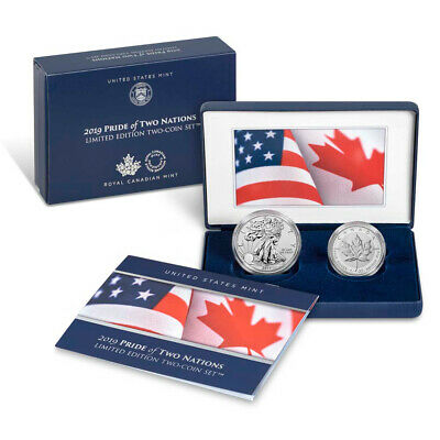 2019 Pride of Two Nations Limited Edition Two Coin Set in OGP