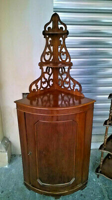 Italian Louis Philippe Walnut Corner Cupboard From 1860