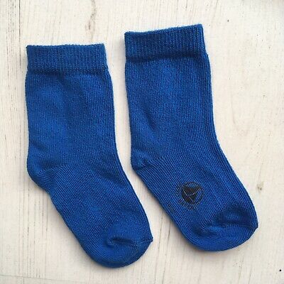 * New * Petit Bateau Baby Boys Socks Size 6 Months Navy Blue