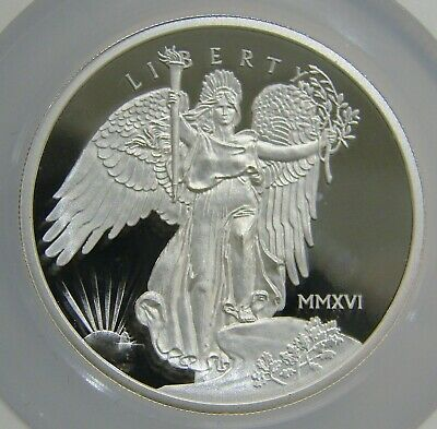 2016 Proof 1 oz Silver St Gaudens Winged Liberty Medal - NGC PF 70 UCAM Mercanti