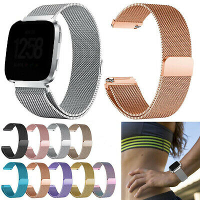 For Fitbit Versa Stainless Steel Magnetic Milanese Metal Band Wrist Band Strap
