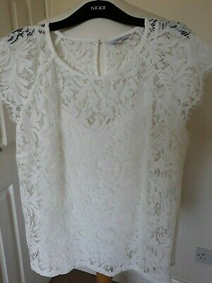Ladies NEXT Size 18 Lacy Cream Top & Camisole - Immaculate