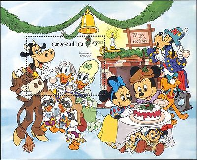 Anguilla 1984 Christmas/Disney/Donald Duck/Cartoons/Animation 1v m/s (b1480e)