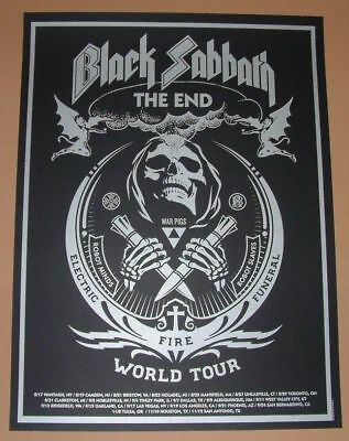 Shepard Fairey Black Sabbath The End Tour Poster Art Print 2016