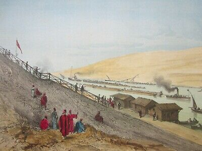 19th Century Lithograph - SHIPPING, by CICERI, Hand Coloured, LEMERCIER c.1869