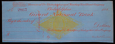 Obsolete note from 1915 Osage National Bank Beautiful Artwork Bank Check