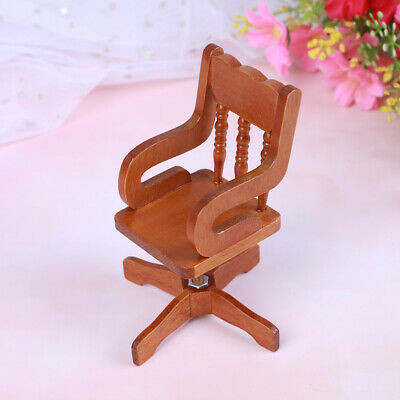 1:12 Dollhouse miniature furniture wooden swivel chair for dollshouse ue